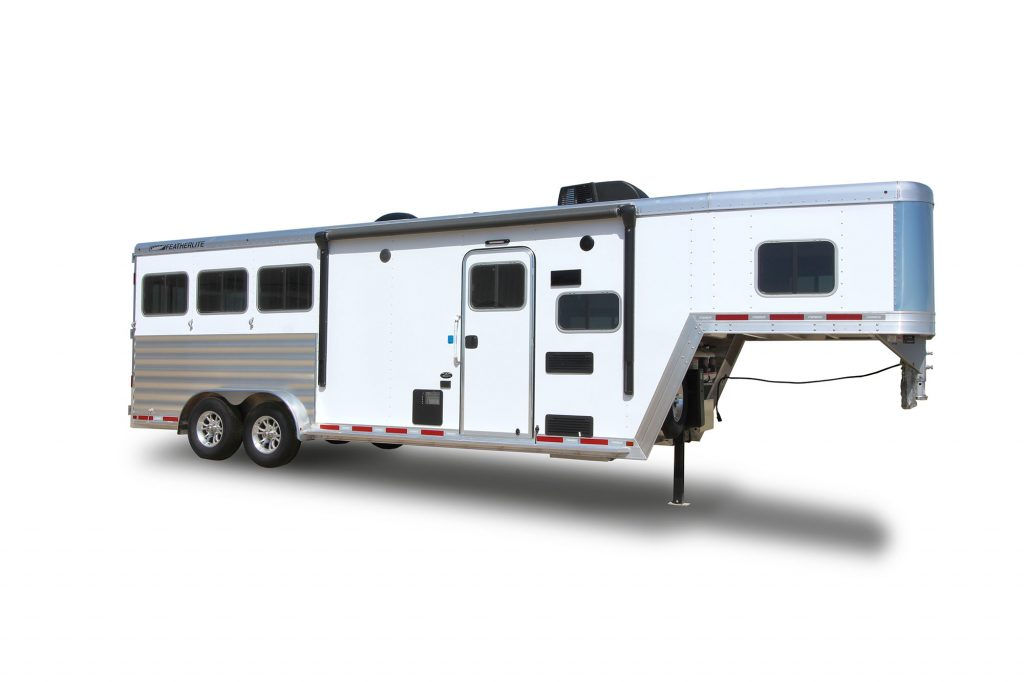 Living quarters horse trailer 7841 curbside front